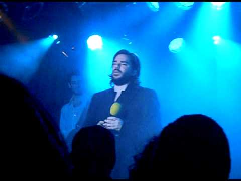 Matt Berry singing 'One Track Lover' from Garth Merenghi's Darkplace, live.
