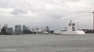 Incredible 225million bombproof superyacht moors on the London Thames