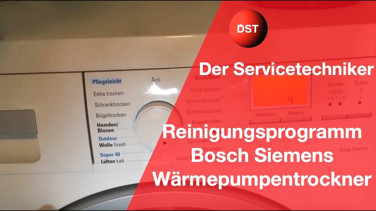 Fehler Behlter leeren Bosch Siemens Trockner reinigen ...