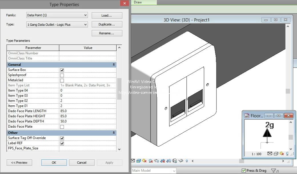 Revit Combind Data and Audio Outlet - YouTube