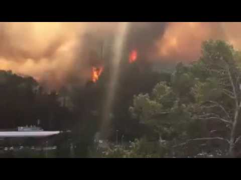 Israel fire enters third day