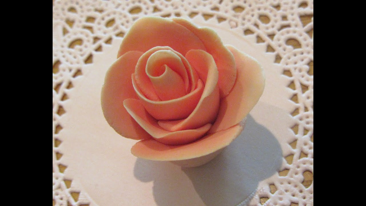 How to make fondant roses without any tools youtube youtube premium izmirmasajfo