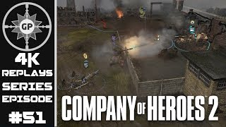 Company of Heroes 2 4K Replays #51 - How You Fight / Beat A Larger Army