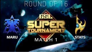 2019 GSL Super Tournament 1 - Ro16 Match 1: Maru (T) vs Stats (P)