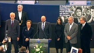 """""""Cadeiras vazias"""" em Estrasburgo para receber o Prémio Sakharov"""