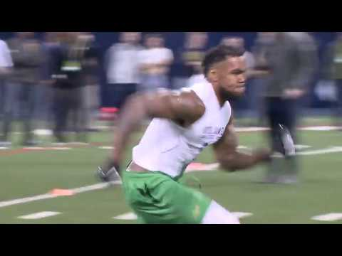 Notre Dame Pro Day - Justin Brent Diving Catch