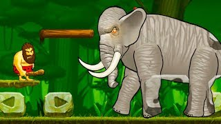 Caveman Chuck Adventure - Level 2 (Angry Elephant in Forest) Android Gameplay Walkthrough