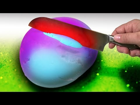 Thumbnail: EXPERIMENT 1000 Degree Knife vs Slime Stress Ball with Toothpaste