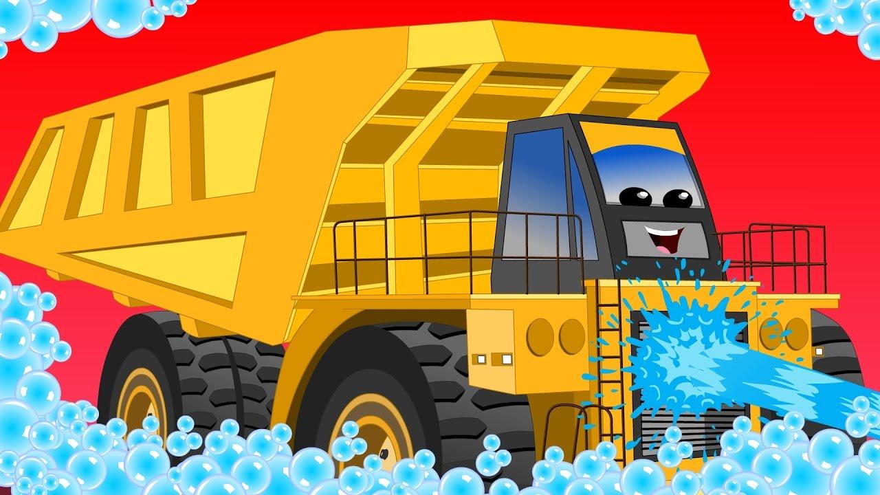 Dump truck | car wash | educational video for kids
