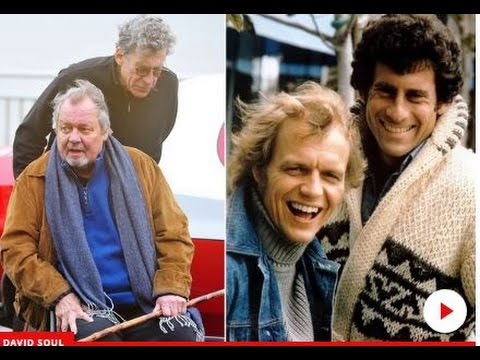 Starsky and Hutch stars showing their age as Paul Michael Glaser pushes David Souls wheelchair