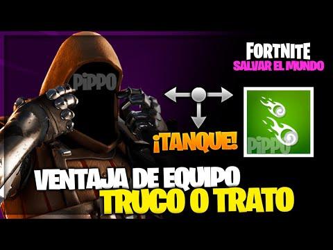 NUEVA VENTAJA DE EQUIPO: TRUCO O TRATO + CABALLERO DEL PANTANO = TANQUE - FORTNITE SALVAR EL MUNDO