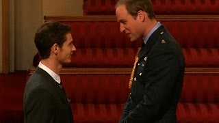 Prince William honors Andy Murray as he takes on new royal duties
