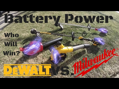 DeWalt vs Milwaukee ► Outdoor Power Equipment Battle! Who Will Win?