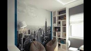 видео Как правильно клеить фотообои на потолок и стены своими руками