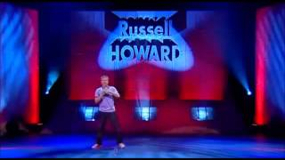 Russell performing from the Bloomsbury Theatre
