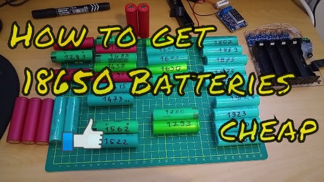 How To Get 18650 Batteries Cheap Youtube