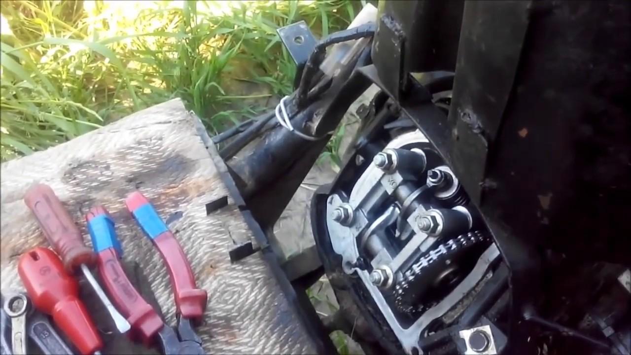 Укоротить вытянувшуюся цепь ГРМ на двигателе 139qmb китайского скутера