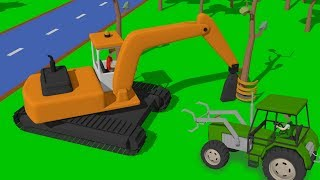 #Excavator and Truck, Dump Truck and Tractor with loader | Street Vehicles | Maszyny Budowlane