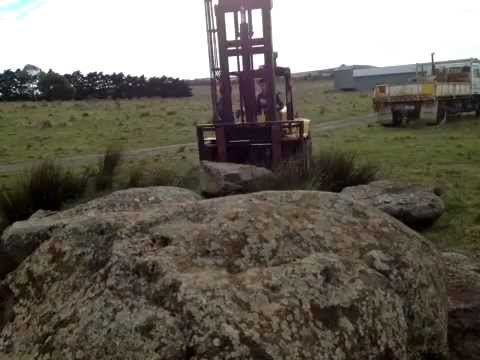 Awesome Time Lapse  Andrew J Morley loading rocks for landscaping