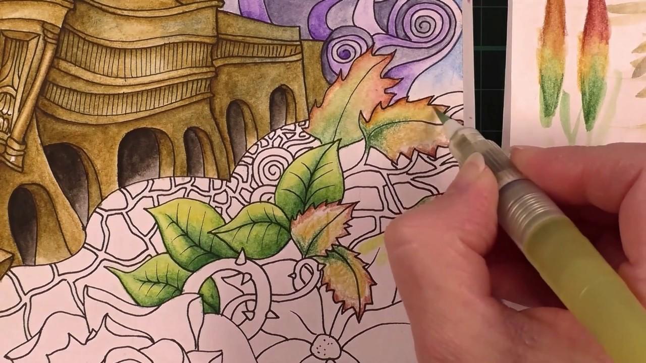 Tutorial Colour With Peta Paris Using Inktense Pencils Part 4