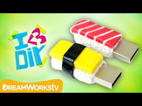 DIY Sushi USB Flash Drives with PuddingFishCakes | I ♥ DIY