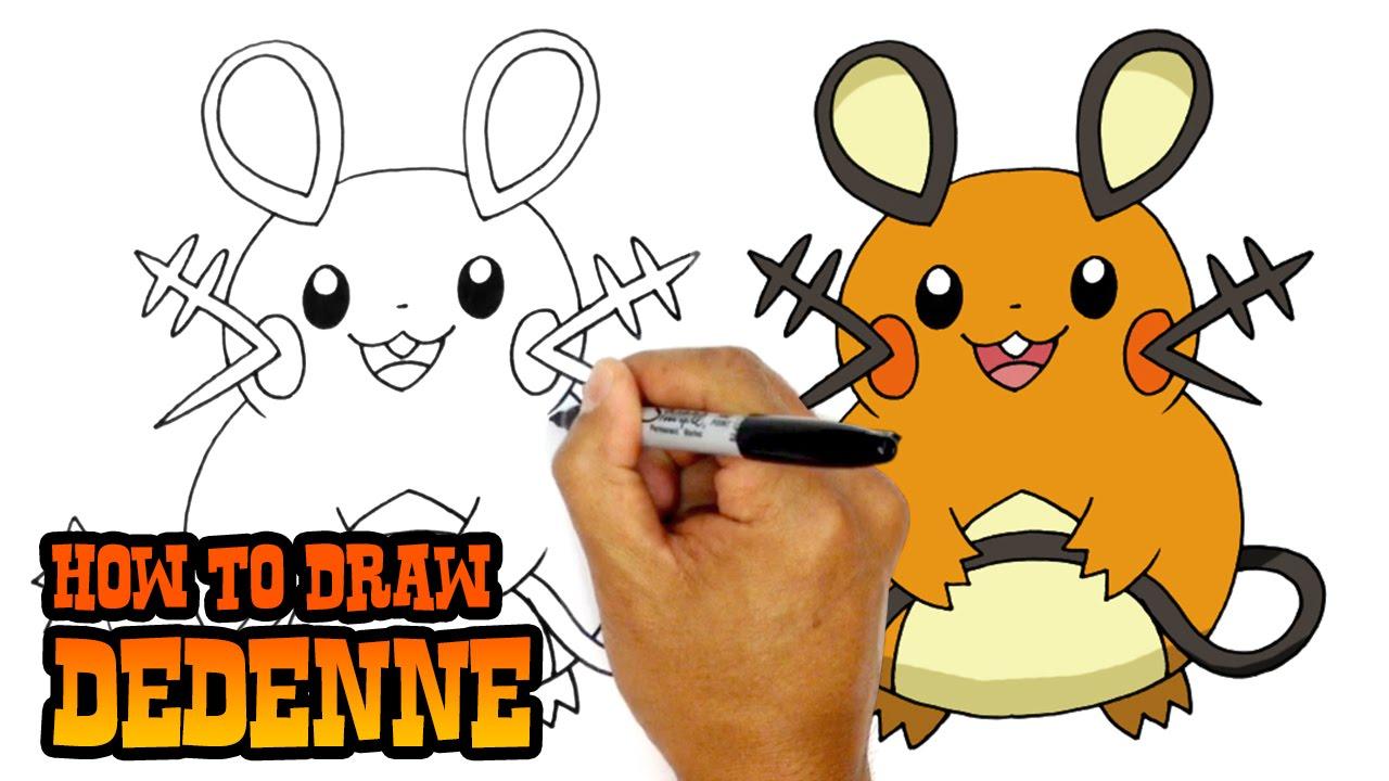 how to draw dedenne pokemon youtube