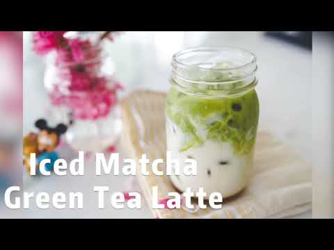 Iced Matcha Green Tea Latte with Oatmilk | Easy recipe to make it at home