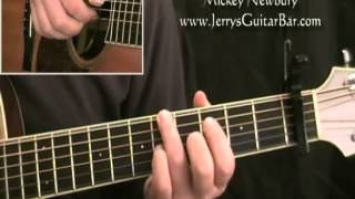 How To Play Mickey Newbury American Trilogy (second part only)