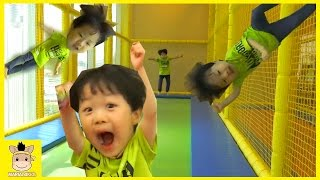 Indoor Playground Fun for Kids and Family Play Slide Rainbow Colors Ball Jump | MariAndKids Toys