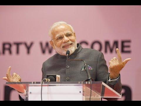 PM Narendra Modi addresses the Indian community in Kigali, Rwanda
