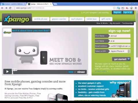 كيفية التسجيل في موقع Xpango
