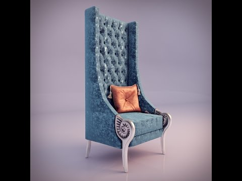 "Speed Art 3D Max modeling - ""Alexandra Coleccion - Armchair"""