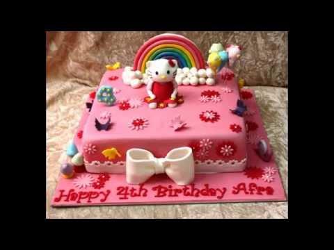 Contoh Hiasan Kue Hello Kitty Untuk Ulang Tahun Anak Perempuan Youtube