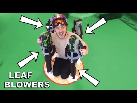 BUILDING A LEAF BLOWER HOVERCRAFT!