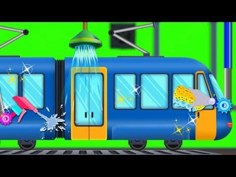 train-car-wash-|-cartoon-videos-for-children-|-car-cartoons-and-nursery-rhymes-by-kids-channel