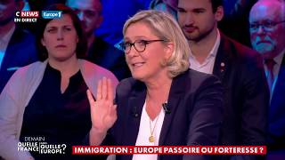 Migrants et Europe : la passe d'armes entre Marine Le Pen et Laurent Wauquiez