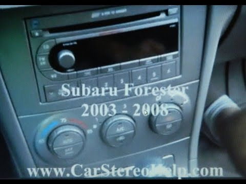 How To Subaru Forester Car Stereo Radio Removal 2003 - 2008