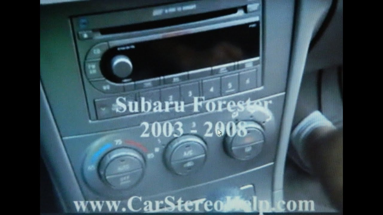 2009 Subaru Forester Stereo Wiring Diagram For Phone Wall Socket How To Car Radio Removal 2003 2008 Youtube
