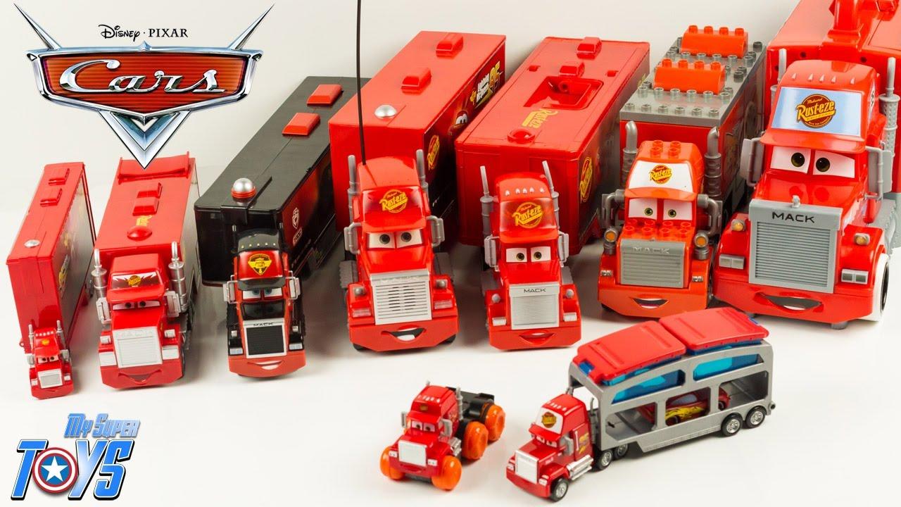 Disney Pixar Cars 9 Mack Truck Hauler Collection Lightning McQueen Toy Review Juguetes Carry Case - YouTube & Disney Pixar Cars 9 Mack Truck Hauler Collection Lightning McQueen ...