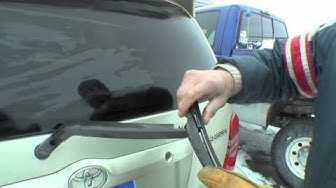 How to change a rear windshield wiper on a Toyota