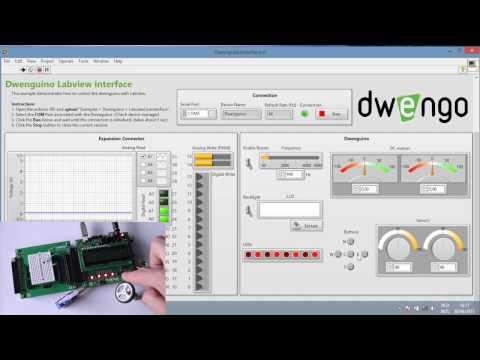 Dwenguino Labview Interface | Dwengo VZW