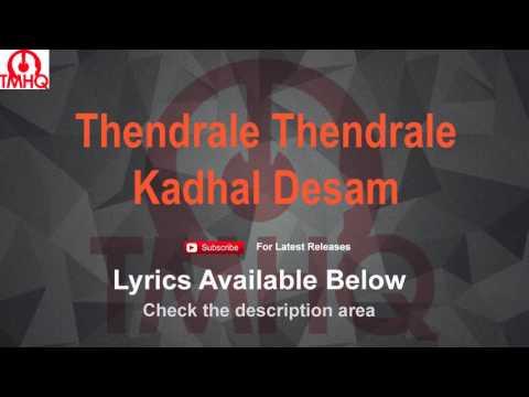 Thendrale Thendrale Karaoke with Lyrics Kadhal...