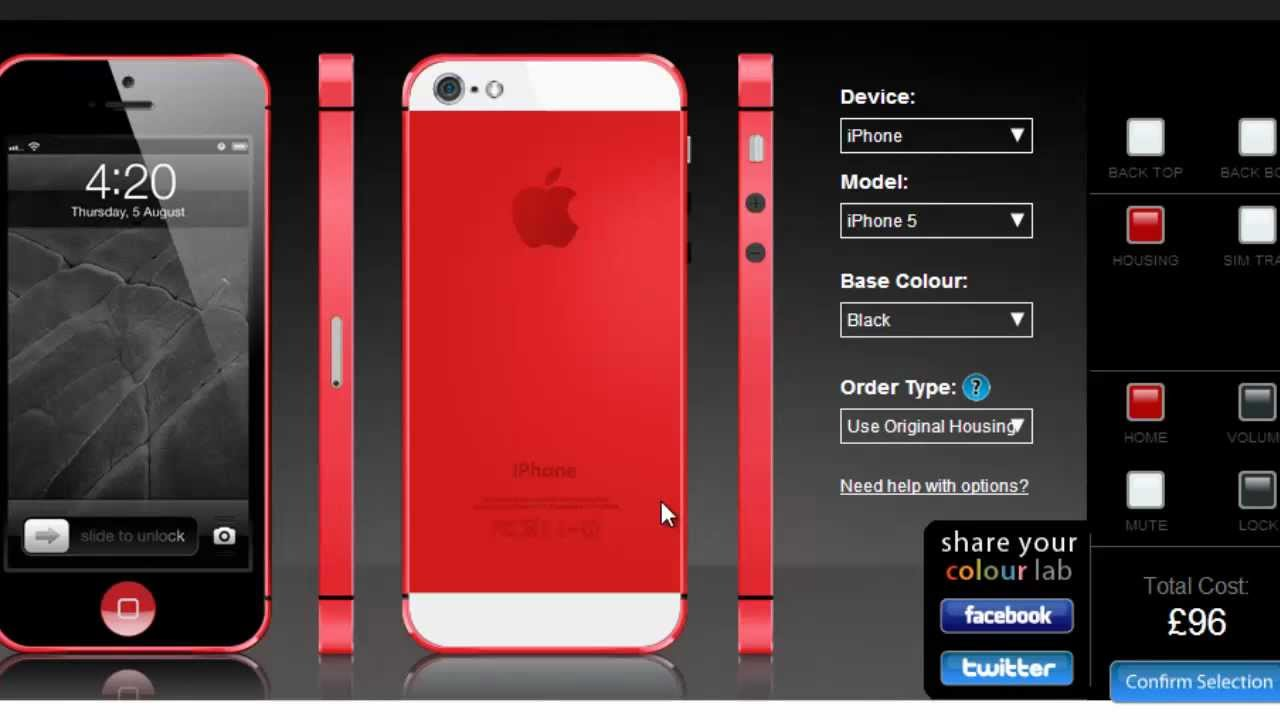 Iphone Colour Change Custom Iphone 5 Color Transformation Website Youtube  Inspiration