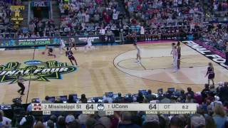 Buzzer beater!!!!!!! Undefeated UConn stunned by Miss St.2017 women's final four MUST SEE!!!!
