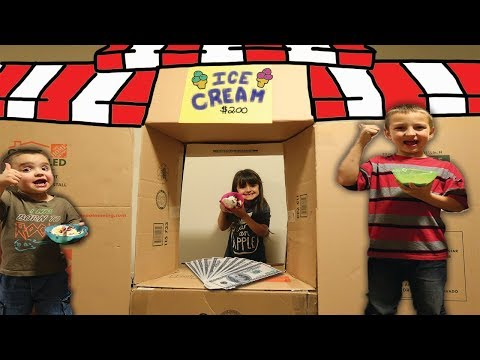 FAST FOOD BOX FORT Restaurant Makes REAL Money!!!