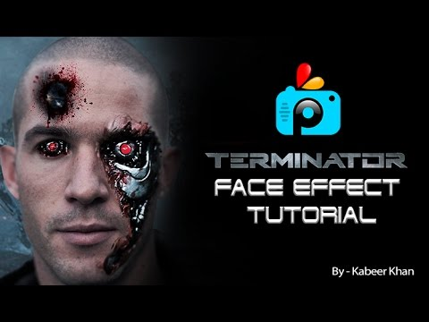 how to create terminator face in photoshop