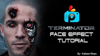 PicsArt Tutorial : How to Make a Terminator Face Effect With PicsArt Photo Studio Application