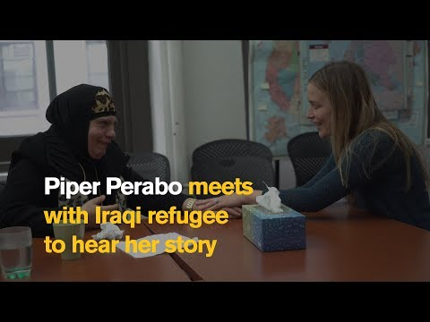 Piper Perabo meets Maha, an Iraqi refugee affected by the travel ban