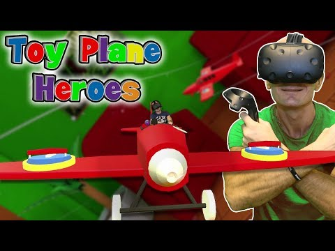 VR Air Combat Dogfight in Mixed Reality: Toy Plane Heroes HTC Vive Gameplay & New Giveaway!