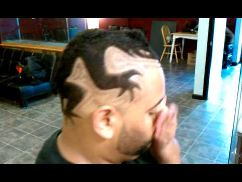 rich cuts 3d lizard haircut design